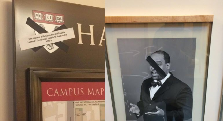 Harvard law school students vandalized portraits of former ...