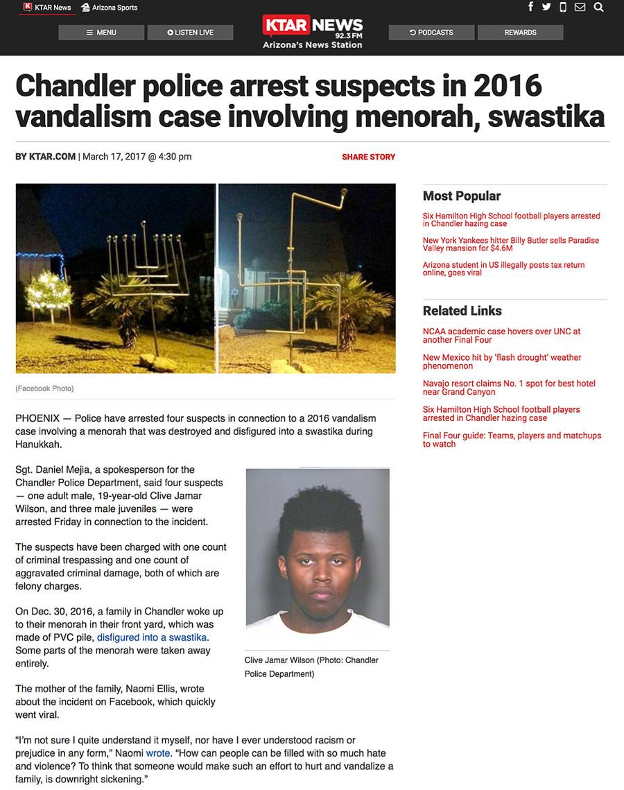 Menorah Swastika White Supremacist